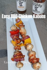 Easy Grilling Recipe- BBQ Chicken Kabobs