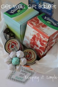 Get Well Gift Basket with Kleenex Brand and Printable