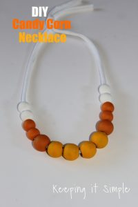 Fun Fall Necklace- DIY Candy Corn Necklace