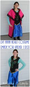 Disney Frozen Halloween Costume: DIY Anna Frozen Adult Costume for Under $20