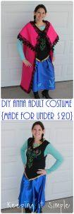 Disney Frozen Halloween Costume: DIY Anna Frozen Adult Costume for Under $20