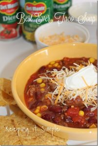 Quick and Easy Meal Idea- Best Ever Taco Soup Recipe