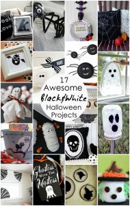 17 Awesome Black and White Halloween Projects