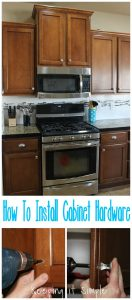 Easy Way to Update a Kitchen- How to Install Kitchen Cabinet Hardware