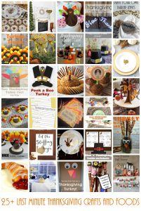 Last Minute Thanksgiving Crafts and Foods {MMM #305 Block Party}