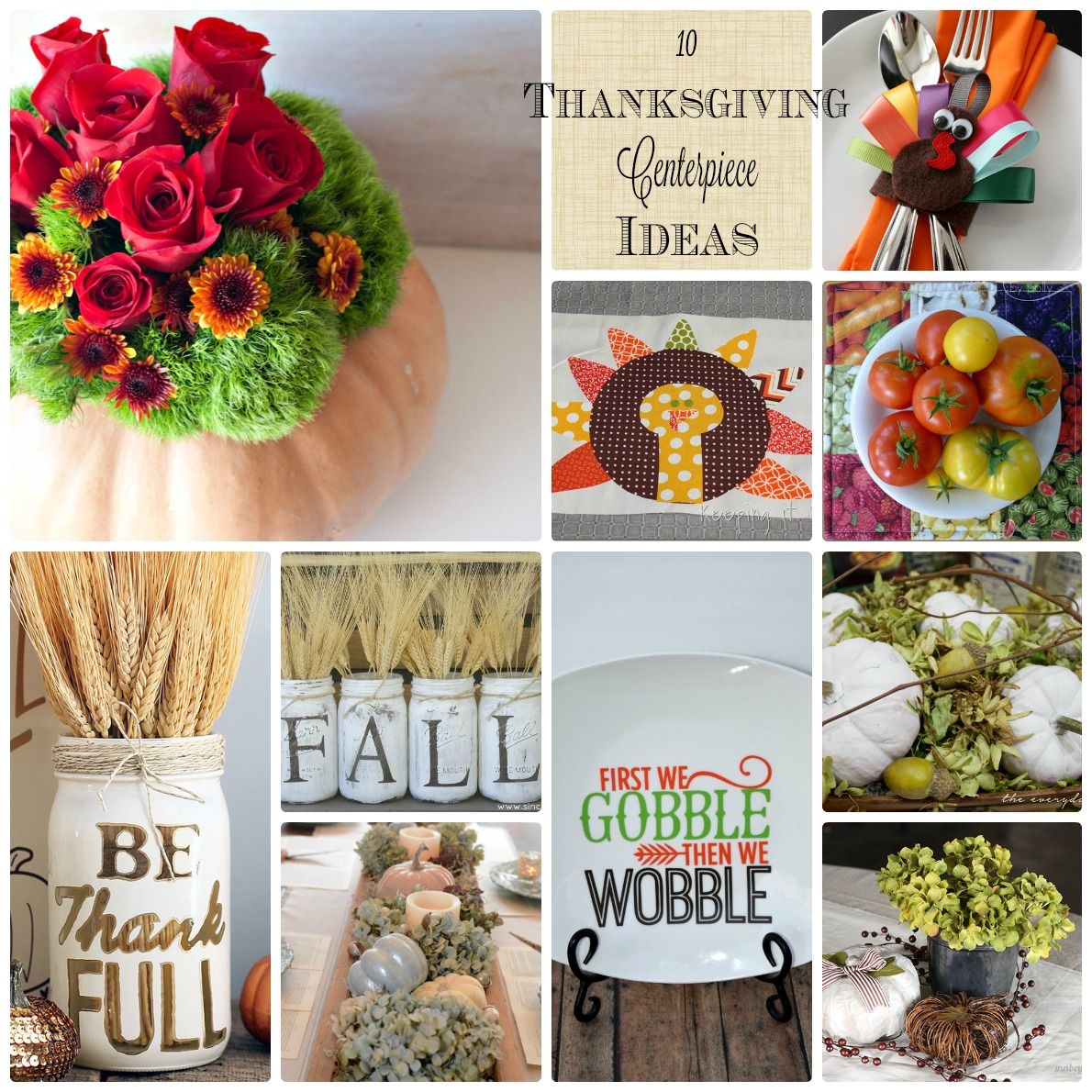 Thanksgiving centerpiece ideas mmm block party