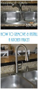 How to Remove and Install a Kitchen Moen Faucet