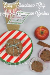 Scent Inspired Cookies- Easy Chocolate Chip Apple Cinnamon Cookies