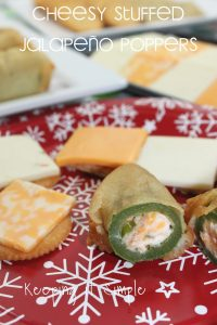 Holiday Party Foods- Cheesy Stuffed Jalapeño Poppers Recipe