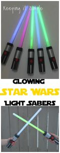 DIY Star Wars Glowing Light Sabers