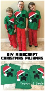 DIY Easy Minecraft Christmas Pajamas