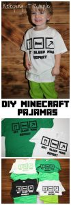 Christmas Pajamas Idea- Easy DIY Minecraft Pajamas