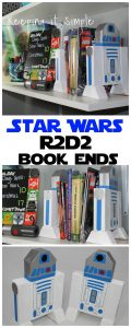 DIY 2×4 Star Wars R2D2 Book Ends