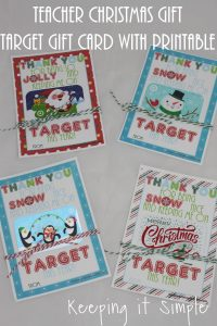 Teacher Christmas Gift Idea- Printable for Target Gift Card