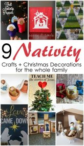 9 Nativity Crafts and Decorations {MMM #307 Block Party}