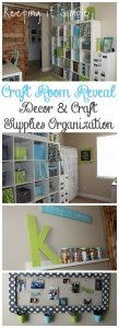 Craft Room Reveal- Decor Ideas and Craft Supplies Organization