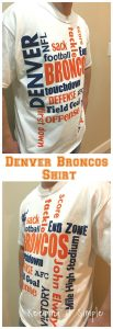 DIY Denver Broncos Shirt- How to Cut Flocked Heat Transfer on a Silhouette
