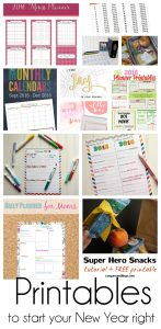 Printables to Start Your New Year Right {MMM #312 Block Party}