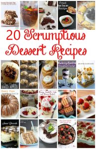 20 Desserts Recipes {MMM #317 Block Party}