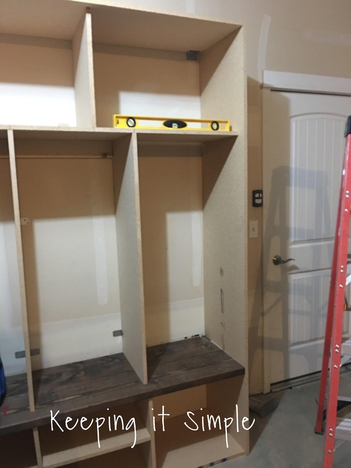 Diy garage mudroom lockers28629 keeping it simple for Garage mudroom designs