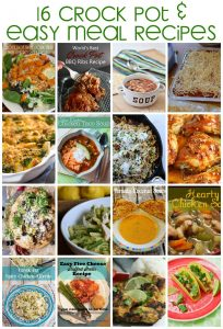 16+ Crock Pot and Easy Meal Recipes {MMM #325 Block Party}