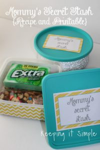 Mommy's Secret Stash Container Tutorial with Recipe and Printable