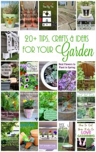 20+ Tips, Crafts and Ideas for your Garden {MMM #329 Block Party}