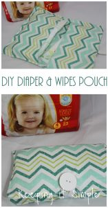 Easy DIY Huggies Diaper and Wipes Pouch