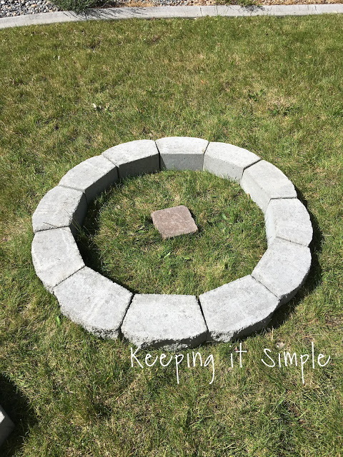 How to build a diy fire pit for only 60 keeping it for How do i build a fire pit
