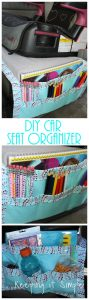 DIY Car Seat Organizer for Kids' Snacks and Coloring Supplies