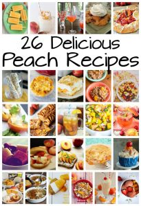 26 Delicious Peach Recipes {MMM #340 Block Party}