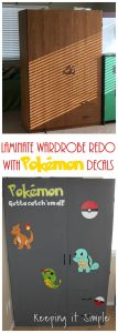 Laminate Wardrobe Redo with Paint and Pokemon Decals