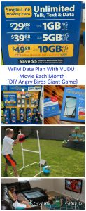 WFM Unlimited Text, Talk & Data Plan and DIY Angry Birds Giant Game