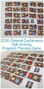 2016 General Conference Kids Activity- Prophets and Apostles Memory Game