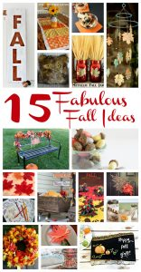 15 Fall Ideas {MMM #348 Block Party}