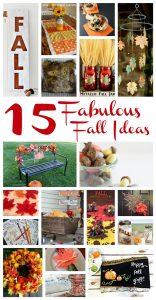 15 Fall Ideas {MMM #348 Block Party}