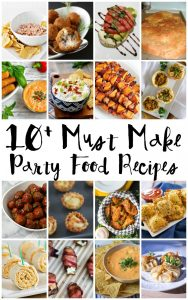 10+ Party Food Recipes {MMM #351 Block Party}