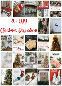 20+ DIY Christmas Decorations {MMM #357 Block Party}