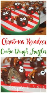 Christmas Reindeer Cookie Dough Truffles