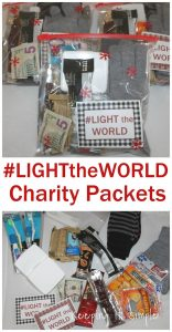Charity Packets and Blessing Bags #LighttheWorld