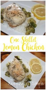 Healthy Chicken Recipe- One Skillet Lemon Chicken
