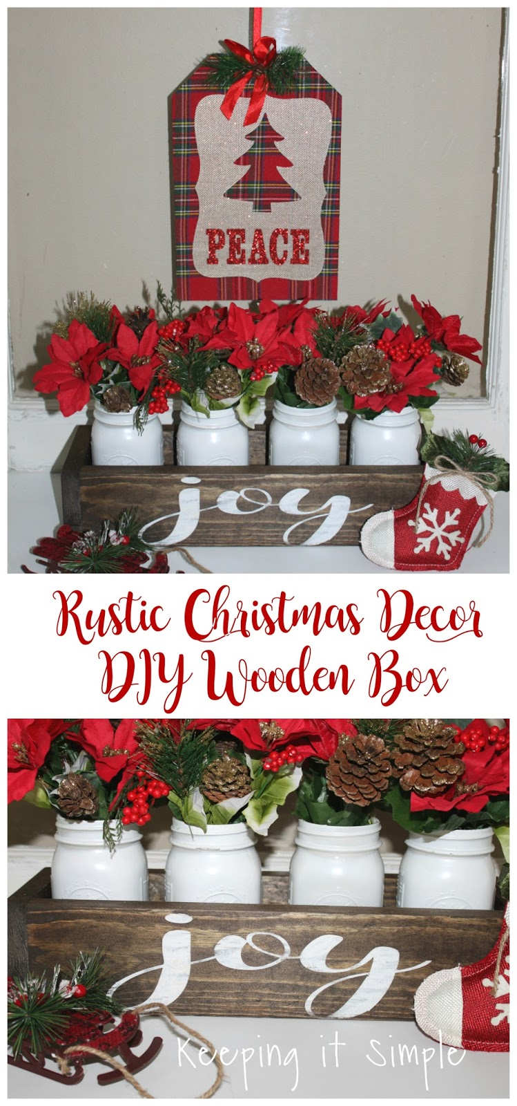christmas decorations craft ideas rustic decor diy wooden box keeping it simple 3612