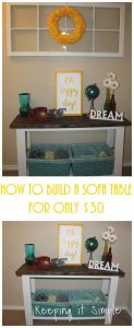How to Build a Sofa Table for Only $30