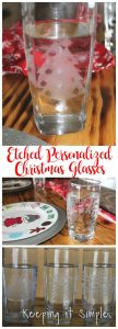 DIY Etched Personalized Christmas Glasses