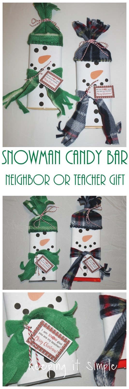 picture regarding Snowman Candy Bar Wrapper Free Printable referred to as Snowman Sweet Bar Neighbor or Trainer Reward with No cost