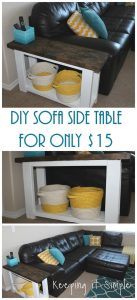 How to Build a Sofa Side Table For About $15