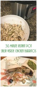 30 Minute Instant Pot Salsa Verde Chicken Burritos Recipe