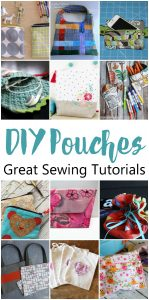 12 DIY Pouch Tutorials {MMM #370 Block Party}