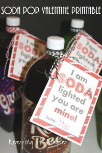 Soda Pop Valentine with Printable for Kids or Teachers