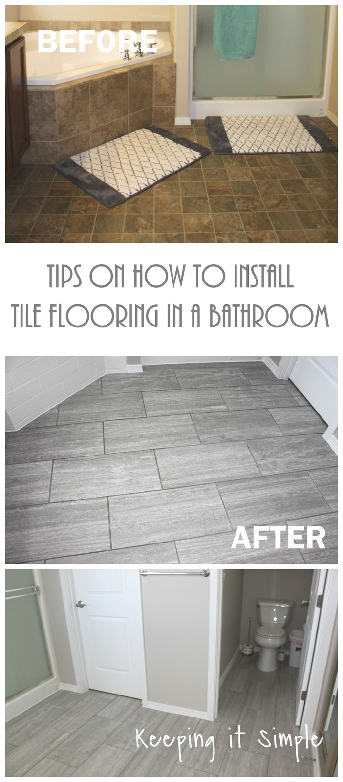 Tips on how to install tile flooring in a bathroom with ridgemont tips on how to install tile flooring in a bathroom with ridgemont silver tiles keeping it simple crafts dailygadgetfo Choice Image